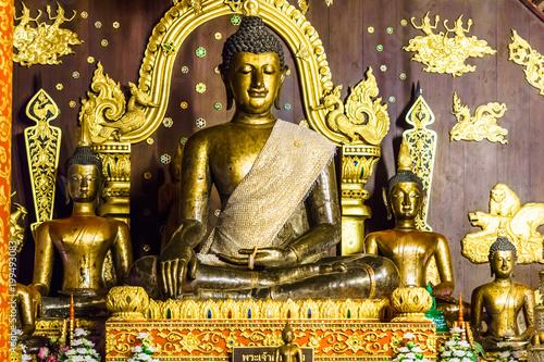 View on golden buddha shrin...