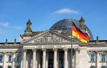 German Flag Waving Bundestag B...