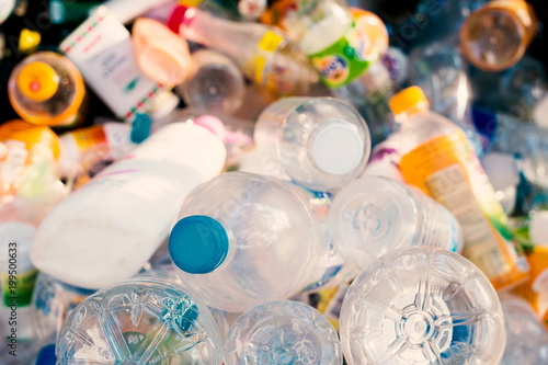 Fotografija  plastic bottles,Recycle waste management concept.