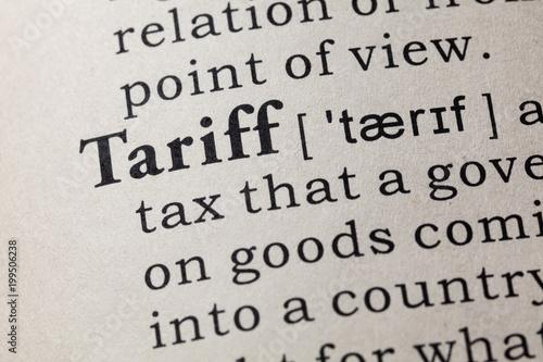 Fotografía  definition of tariff