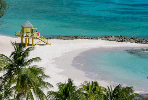 Life Guard House on Barbados Wallpaper Mural