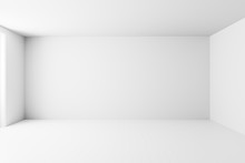 Blank White Interior Room Back...