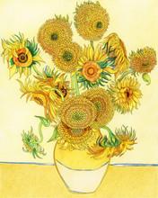 Van Gogh Sunflower Adult Color...