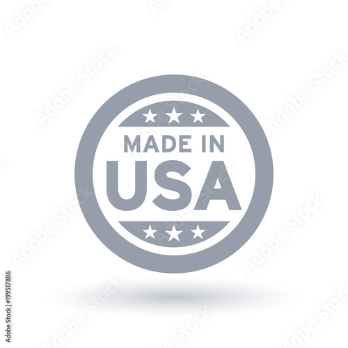 Made in USA icon in circle outline Poster Mural XXL