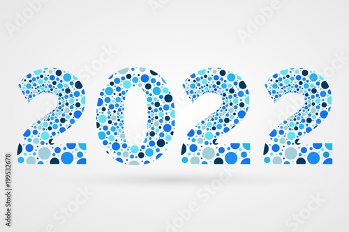 Poster  2022 Happy New Year abstract vector illustration