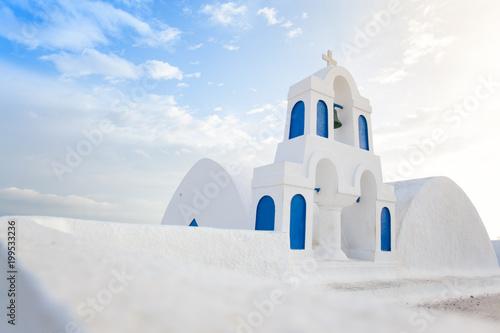 Foto op Plexiglas Santorini White architecture on Santorini island, Greece.