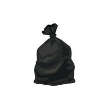 Trash Bag Vector Illustration Isolated On White Background.