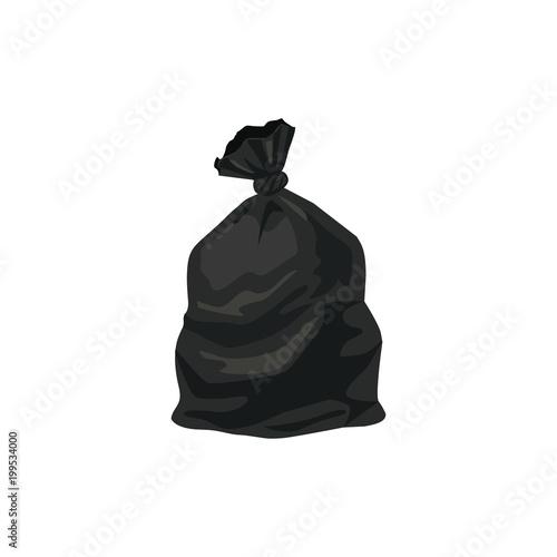 Fototapeta Trash bag vector illustration isolated on white background. obraz
