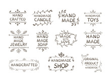 Hand Made Different Labels Set...