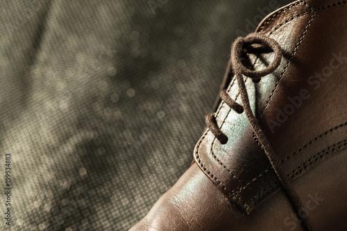 Foto op Plexiglas Dragen Fashion classical polished men's brown oxford brogues
