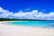 真夏の宮古島。伊良部島の渡口の浜の景観