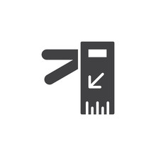 Access Door Vector Icon. Filled Flat Sign For Mobile Concept And Web Design. Turnstile Gate Solid Icon. Symbol, Logo Illustration. Pixel Perfect Vector Graphics