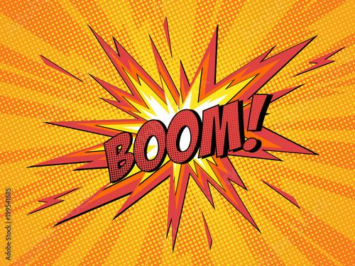 Fotografie, Obraz  Boom comic speech bubble cartoon lightning blast.