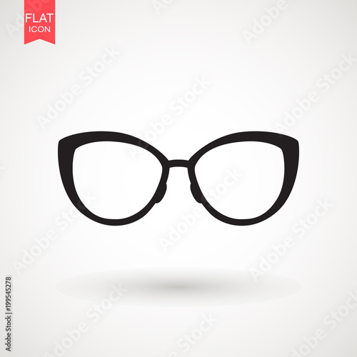 Obraz Sunglasses icon in trendy flat style isolated on background. Sunglasses icon page symbol for your web site design Sunglasses icon logo, app, UI. - fototapety do salonu