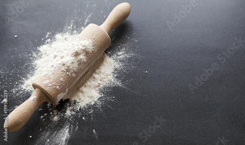 In de dag Bakkerij pâtisserie ustensile rouleau farine