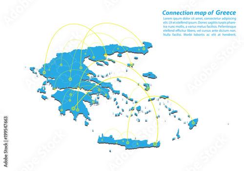 Modern of greece Map connections network design, Best Internet ...