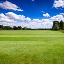 Idyllic English Park Lawn Southern England UK