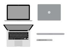MacBook Pro In Different Posit...