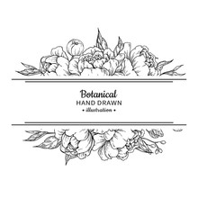 Flower Vintage Border. Vector ...