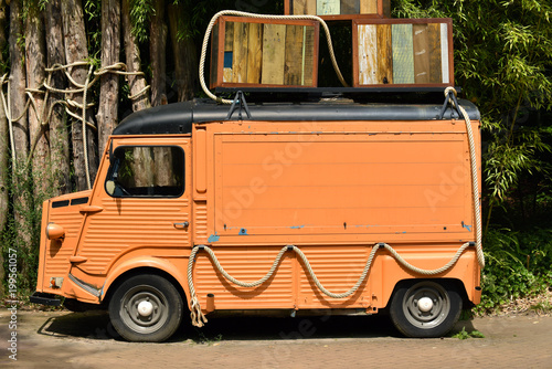 Old French Panel Van