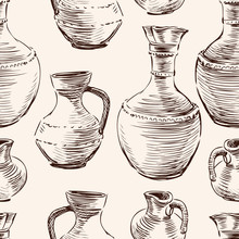 Pattern Of The Greek Jugs Sket...