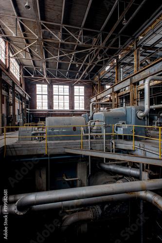 Papiers peints Les vieux bâtiments abandonnés Derelict Turbines - Abandoned Coal Power Plant - Abandoned Indiana Army Ammunition Plant, Charlestown, Indiana