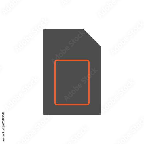 Fotografie, Obraz  SIM card icon. Vector.