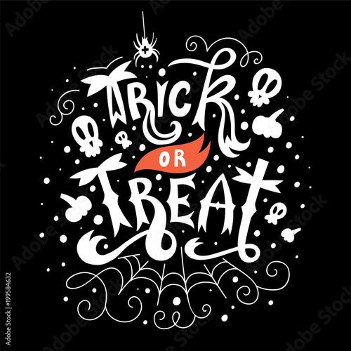 Ingelijste posters Halloween Trick or Treat greeting card