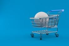 Golf Ball With Shopping Cart