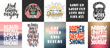Set Of Vector Motivational And...