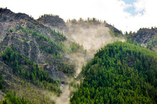 Dust In The Air After Rockfall...