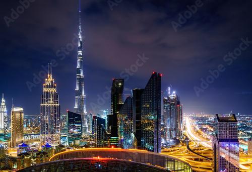 Door stickers Middle East Dubai downtown skyline