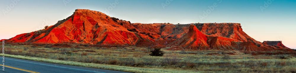Fototapety, obrazy: The Gloss Mountains of Northwestern Oklahoma