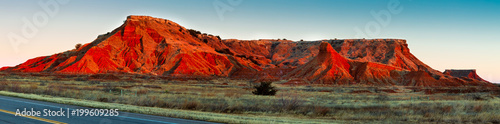 Fototapeta The Gloss Mountains of Northwestern Oklahoma obraz