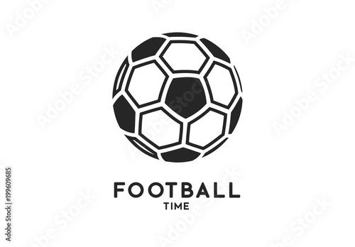 Fototapeta Football soccer ball icon isolated on white background
