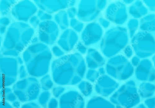 Poster Turquoise Blue sea surface background and ocean realistic view. Vector texture of liquid water