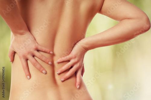 Foto  Schmerzen im Rücken
