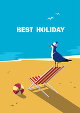 Summer Holiday Vacation Poster...