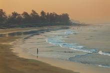 Deserted Beach Arambol At Dawn