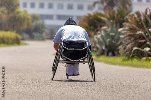 Valokuva  車椅子ランナーの練習風景3