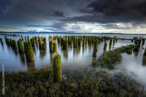 Long exposure landscape image. Canvas Print