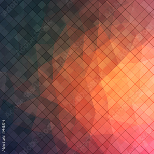 Abstract 2D triangle background with square shapes