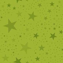 Olive Stars Seamless Pattern O...