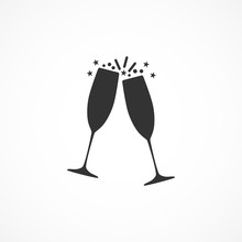 Vector Image Of The Champagne ...