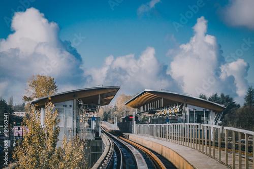 Naklejka premium Sky Train Station w Vancouver