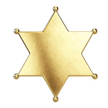Sheriff Star Badge Isolated On...