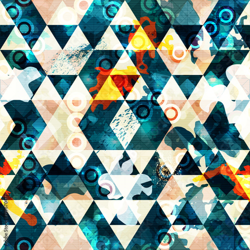 Foto op Aluminium Graffiti colored abstract seamless pattern in graffiti style quality vector illustration for your design