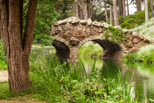 Old Bridge Over River In Golden Gate Park, San Francisco, California, USA