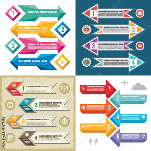 Photo  Business infographic templates concept vector illustration