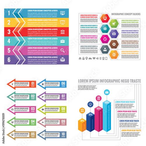 Business infographic templates concept vector illustration Canvas Print